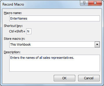 how to use macros in excel 2010 with example