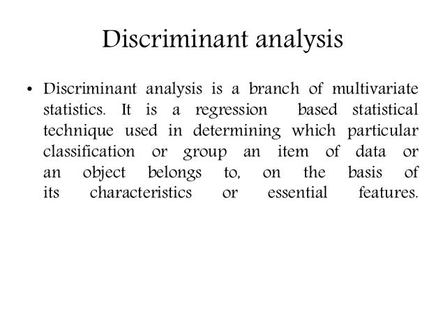 linear discriminant analysis example in r