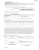 affidavit of personal service example