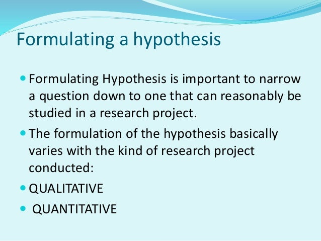 example of null hypothesis in research