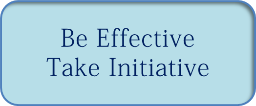 give an example of taking the initiative