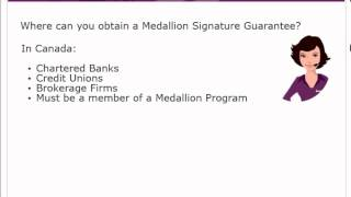 example of medallion signature guarantee