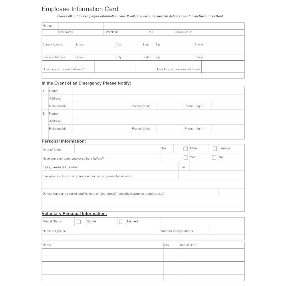 example of a personal and employment document is a