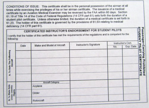 example of medical certificate for student