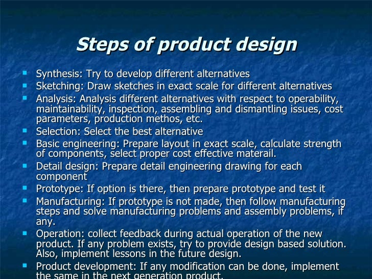 product and service design example