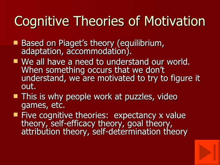 cognitive theory of motivation example