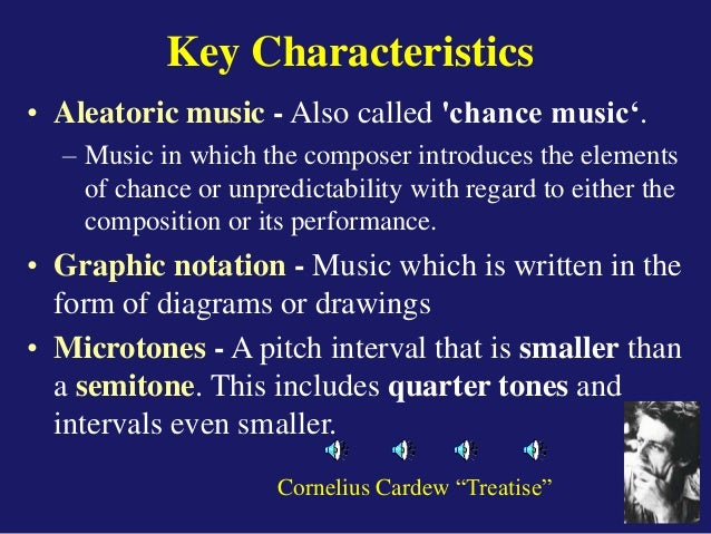 an example of aleatoric music is