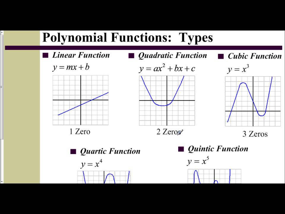 what is the degree of a polynomial example