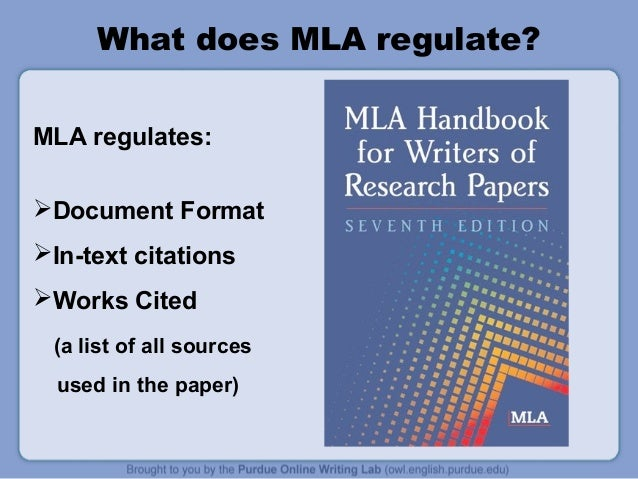 example mla style paper works cited