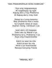 example of poem about love tagalog