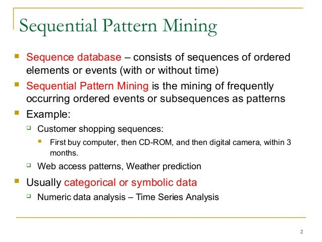 generalized sequential pattern mining example