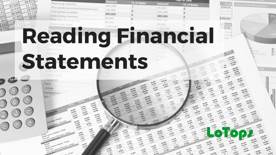 how to read financial statements example