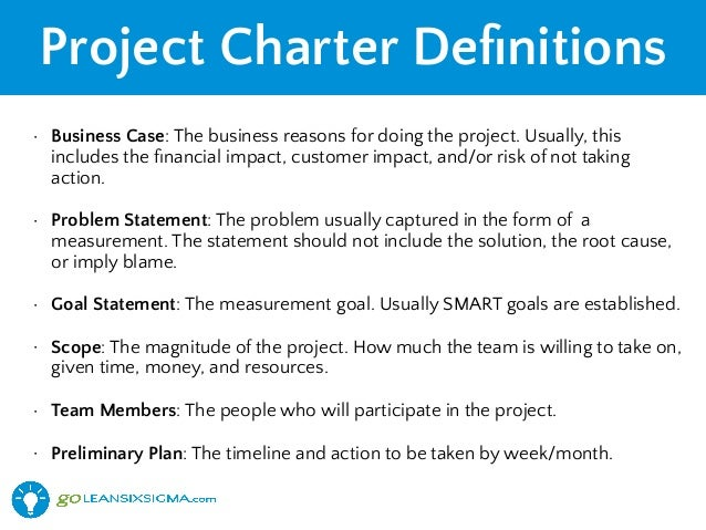 project scope statement example six sigma