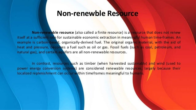 which is an example of a renewable resource